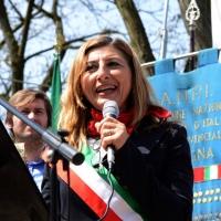 Foto Nicoloro G. 25/04/2013 Marzabotto ( Bologna ) Celebrazione della Festa della Liberazione in questo paese che durante la Seconda guerra mondiale subì una strage perpetrata dai nazisti. nella foto Giusi Nicolini, Sindaco di Lampedusa