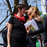 Foto Nicoloro G. 25/04/2013 Marzabotto ( Bologna ) Celebrazione della Festa della Liberazione in questo paese che durante la Seconda guerra mondiale subì una strage perpetrata dai nazisti. nella foto Cecilia Strada – Giusi Nicolini