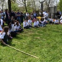 Foto Nicoloro G. 25/04/2013 Marzabotto ( Bologna ) Celebrazione della Festa della Liberazione in questo paese che durante la Seconda guerra mondiale subì una strage perpetrata dai nazisti. nella foto Spettacolo di studenti
