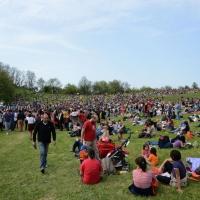 Foto Nicoloro G. 25/04/2013 Marzabotto ( Bologna ) Celebrazione della Festa della Liberazione in questo paese che durante la Seconda guerra mondiale subì una strage perpetrata dai nazisti. nella foto La grande folla dei partecipanti all'evento