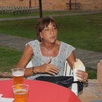 """Foto Nicoloro G. 17/06/2011 Bagnacavallo (RA) """" Festa della politica """" organizzata dal PD tra dibattiti, mostre e cucina regionale. nella foto Flavia Perina"""