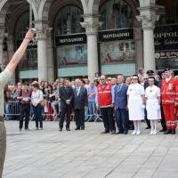 Foto Nicoloro G. 02/06/2011 Milano Celebrazione della Festa della Repubblica in piazza Duomo alla presenza delle piu' alte cariche dell' amministrazione e delle Forze Armate. nella foto Nello Barale