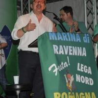 Foto Nicoloro G. 26/07/2012 Marina di Ravenna Il neo segretario federale Roberto Maroni interviene alla festa nazionale della Lega Nord Romagna. nella foto Roberto Maroni