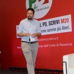 Foto Nicoloro G.   23/08/2019   Ravenna   Serata di apertura della Festa Nazionale dell' Unita'. nella foto Alessandro Barattoni, segretario provinciale PD.