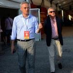 Foto Nicoloro G    01/09/2019   Ravenna    Festa Nazionale dell' Unita'. nella foto Stefano Vaccari, responsabile aaaaaacomunicazione esterna del PD, a sinistra, e il giornalista Ferruccio de Bortoli.