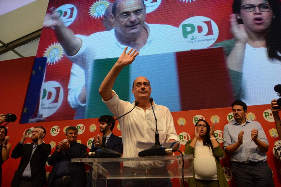 Foto Nicoloro G.   08/09/2019   Ravenna    Manifestazione di chiusura della Festa Nazionale dell' Unita'. nella foto Nicola Zingaretti durante il suo intervento.