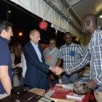 Foto Nicoloro G.   05/09/2019   Ravenna    Festa Nazionale dell' Unita'. nella foto l' onorevole Piero Fassino fa visita ai volontari nello stand del Senegal.