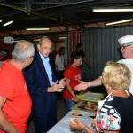 Foto Nicoloro G.   05/09/2019   Ravenna    Festa Nazionale dell' Unita'. nella foto l' onorevole Piero Fassino fa visita ai volontari.