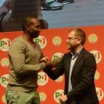 Foto Nicoloro G.   07/09/2019   Ravenna    Festa Nazionale dell' Unita'. nella foto il sindacalista Aboubakar Soumahoro e il ministro Giuseppe Provenzano