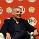 Foto Nicoloro G.   04/09/2019   Ravenna    Festa Nazionale dell' Unita'. nella foto lo scrittore Maurizio De Giovanni.