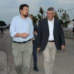 Foto Nicoloro G.   28/08/2019   Ravenna    Festa Nazionale dell' Unita'. nella foto il segretario Provinciale PD Alessandro Barattoni, a sinistra, e il segretario generale CGIL Maurizio Landini.