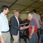 Foto Nicoloro G.   28/08/2019   Ravenna    Festa Nazionale dell' Unita'. nella foto Maurizio Landini saluta i volontari in uno stand della Festa.