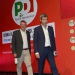 Foto Nicoloro G.   28/08/2019   Ravenna    Festa Nazionale dell' Unita'. nella foto il segretario generale CGIL Maurizio Landini, a sinistra, e l' ex ministro Andrea Orlando.