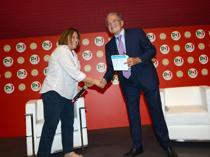 Foto Nicoloro G.   29/08/2019   Ravenna    Festa Nazionale dell' Unita'. nella foto la giornalista Lucia Annunziata e il professore Romano Prodi.