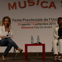 Foto Nicoloro G.  31/08/2014   Ravenna    Festa Provinciale de L' Unità. nella foto Lina Taddei , del Forum Immigrazione, e la parlamentare europea Cècile Kyenge.