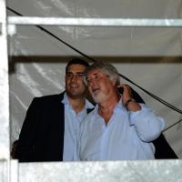 Foto Nicoloro G.  30/08/2014   Ravenna    Festa Provinciale de L' Unità. nella foto a sinistra il segretario provinciale del PD Ravenna Michele De Pascale e il ministro Giuliano Poletti.