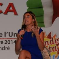 Foto Nicoloro G.  01//09/2014   Ravenna    Festa Provinciale de L' Unità. nella foto il ministro Maria Elena Boschi.