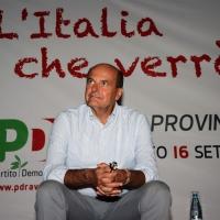 Foto Nicoloro G. 30/08/2013 Ravenna Festa provinciale del PD con l' intervento dell' ex segretario Pier Luigi Bersani. nella foto Pier Luigi Bersani
