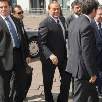 """Foto Nicoloro G.  12/07/2010  Milano  Prima giornata del """" Forum Economico e Finanziario per il Mediterraneo """". nella foto Silvio Berlusconi"""