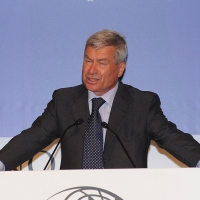 """Foto Nicoloro G.  12/07/2010  Milano  Prima giornata del """" Forum Economico e Finanziario per il Mediterraneo """". nella foto Carlo Sangalli"""