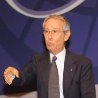 """Foto Nicoloro G. 13/07/2010 Milano, Seconda giornata del """" Forum Economico e Finanziario per il Mediterraneo """". nella foto  Bruno Ermolli"""