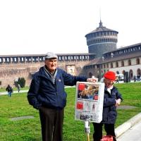 Foto Nicoloro G. 23/02/2016 Milano Cerimonia funebre laica in onore del semiologo e scrittore Umberto Eco. nella foto in attesa del feretro del professore e scrittore.