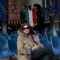 Foto Nicoloro G. 23/02/2016 Milano Cerimonia funebre laica in onore del semiologo e scrittore Umberto Eco. nella foto presente l' editore Inge Feltrinelli.