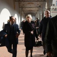 Foto Nicoloro G. 23/02/2016 Milano Cerimonia funebre laica in onore del semiologo e scrittore Umberto Eco. nella foto il ministro Stefania Giannini.