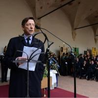Foto Nicoloro G. 23/02/2016 Milano Cerimonia funebre laica in onore del semiologo e scrittore Umberto Eco. nella foto il giornalista ed editore Mario Andreose ha condotto la cerimonia.