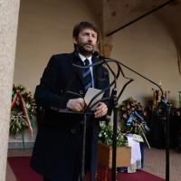 Foto Nicoloro G. 23/02/2016 Milano Cerimonia funebre laica in onore del semiologo e scrittore Umberto Eco. nella foto il ministro Dario Franceschini.