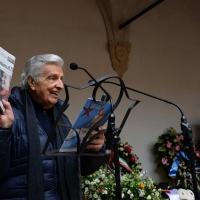 Foto Nicoloro G. 23/02/2016 Milano Cerimonia funebre laica in onore del semiologo e scrittore Umberto Eco. nella foto Furio Colombo.