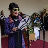 Foto Nicoloro G. 23/02/2016 Milano Cerimonia funebre laica in onore del semiologo e scrittore Umberto Eco. nella foto Elisabetta Sgarbi