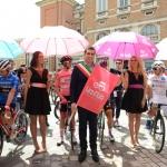 Foto Nicoloro G.   21/05/2019   Ravenna    10° tappa del 102° Giro d' Italia da Ravenna a Modena. nella foto il sindaco di Ravenna Michele de Pascale pronto a dare il via ufficiale alla decima tappa.