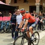 Foto Nicoloro G.   21/05/2019   Ravenna    10° tappa del 102° Giro d' Italia da Ravenna a Modena. nella foto Vincenzo Nibali parla con il CT Davide Cassani.
