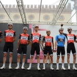 Foto Nicoloro G.   21/05/2019   Ravenna    10° tappa del 102° Giro d' Italia da Ravenna a Modena. nella foto la squadra Trek-Segafredo della Maglia Azzurra.