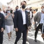25/08/2021   Ravenna    Visita in citta' del presidente del M5S in vista delle amministrative di ottobre. nella foto il presidente del M5S in citta' per le amministrative di ottobre si e' concesso una passeggiata per le vie del centro.