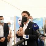 25/08/2021   Ravenna    Visita in citta' del presidente del M5S in vista delle amministrative di ottobre. nella foto il presidente del M5S Giuseppe Conte.