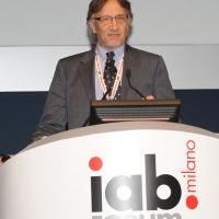 """Foto Nicoloro G. 12/10/2011 Milano Nona edizione dello """" IAB Forum """" che quest' anno ruota intorno al concept """" The New Normal """", due aggettivi antitetici per significare da un lato la raggiunta maturita' di Internet e dall' altro l' importanza dell' innovazione. nella foto Michele Boldrin"""