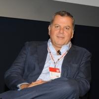"""Foto Nicoloro G. 12/10/2011 Milano Nona edizione dello """" IAB Forum """" che quest' anno ruota intorno al concept """" The New Normal """", due aggettivi antitetici per significare da un lato la raggiunta maturita' di Internet e dall' altro l' importanza dell' innovazione. nella foto Paolo Ainio"""