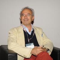 """Foto Nicoloro G. 12/10/2011 Milano Nona edizione dello """" IAB Forum """" che quest' anno ruota intorno al concept """" The New Normal """", due aggettivi antitetici per significare da un lato la raggiunta maturita' di Internet e dall' altro l' importanza dell' innovazione. nella foto Gad Lerner"""