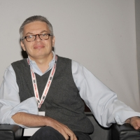 """Foto Nicoloro G. 12/10/2011 Milano Nona edizione dello """" IAB Forum """" che quest' anno ruota intorno al concept """" The New Normal """", due aggettivi antitetici per significare da un lato la raggiunta maturita' di Internet e dall' altro l' importanza dell' innovazione. nella foto Luca Sofri"""