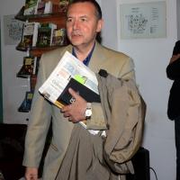 """Foto Nicoloro G. 29/05/2013 Milano Presentazione del libro """" Il sangue non sbaglia """". L' autore è il defunto Capo della Polizia Antonio Manganelli. nella foto Piero Colaprico"""