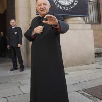 Foto Nicoloro G. 27/10/2010 Milano  Nell' aula magna dell' Universita' Cattolica cerimonia di inaugurazione dell' anno accademico 2010-2011. nella foto Il cardinale Dionigi Tettamanzi