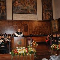 Foto Nicoloro G. 27/10/2010 Milano  Nell' aula magna dell' Universita' Cattolica cerimonia di inaugurazione dell' anno accademico 2010-2011. nella foto Il discorso del Rettore Lorenzo Ornaghi nell'Aula Magna gremita