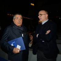 Foto Nicoloro G.  09/12/2014    Milano    Inaugurazione dell' Anno Accademico 2014-2015 dell' Università Bocconi. nella foto Carlo De Benedetti, a sinistra, e il consigliere personale del premier Andrea Guerra
