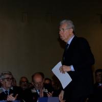 Foto Nicoloro G.  09/12/2014    Milano    Inaugurazione dell' Anno Accademico 2014-2015 dell' Università Bocconi. nella foto il presidente della Bocconi Mario Monti.