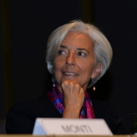 Foto Nicoloro G.  09/12/2014    Milano    Inaugurazione dell' Anno Accademico 2014-2015 dell' Università Bocconi. nella foto il direttore generale del FMI Christine Lagarde.