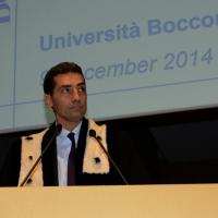 Foto Nicoloro G.  09/12/2014    Milano    Inaugurazione dell' Anno Accademico 2014-2015 dell' Università Bocconi. nella foto il rettore Bocconi Andrea Sironi durante il suo intervento.
