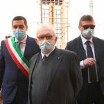 15/05/2021   Ravenna  Inaugurazione del Museo Dante alla presenza del ministro dell' Istruzione. nella foto il ministro Patrizio Bianchi al suo arrivo alla sede del Museo Dante accompagnato dal sindaco Michele de Pascale.