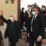 15/05/2021   Ravenna  Inaugurazione del Museo Dante alla presenza del ministro dell' Istruzione. nella foto il ministro Patrizio Bianchi al suo arrivo alla sede del Museo Dante.